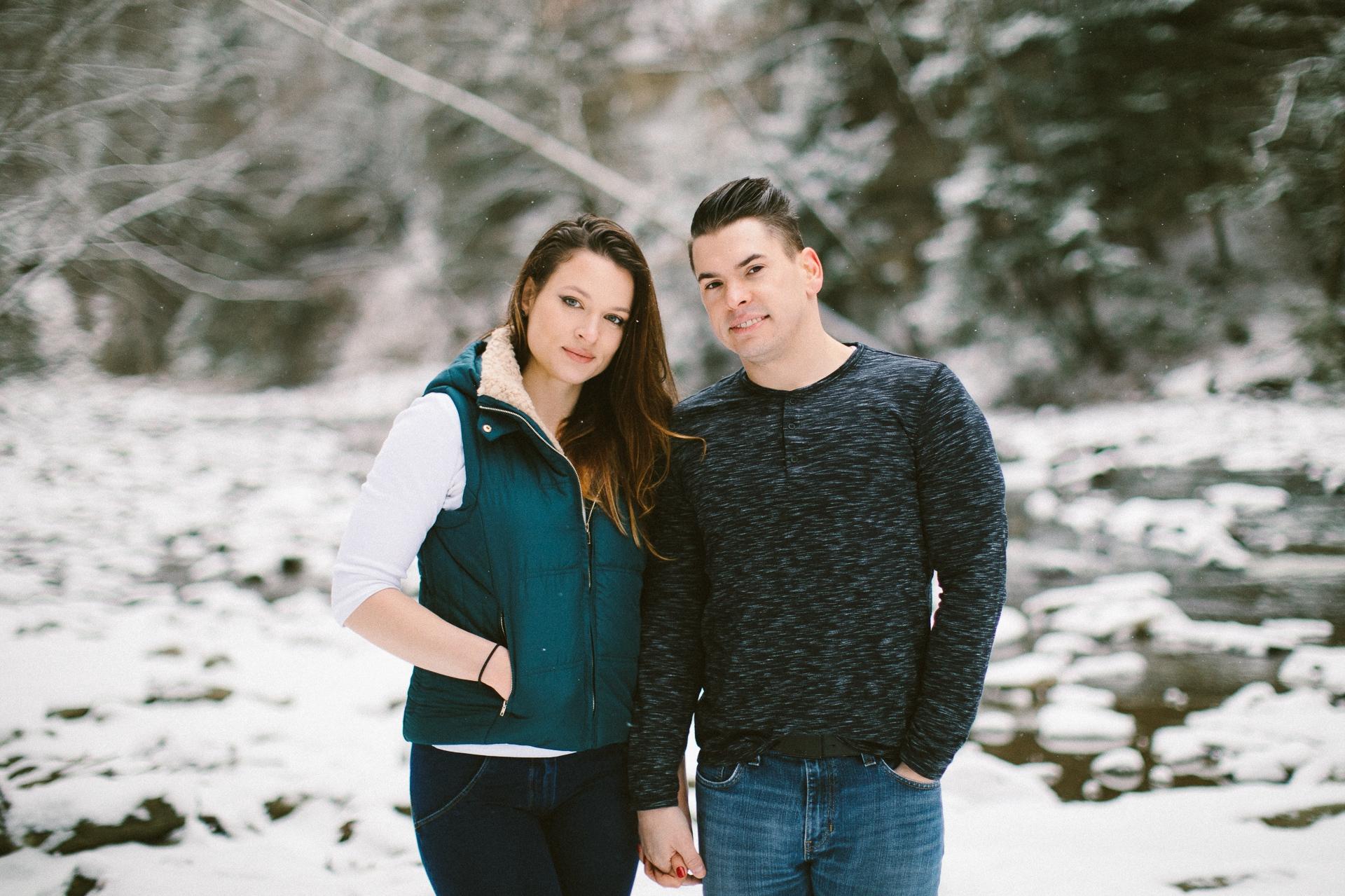 Cleveland Snowy Winter Engagement Session in Chagrin Metroparks 19.jpg