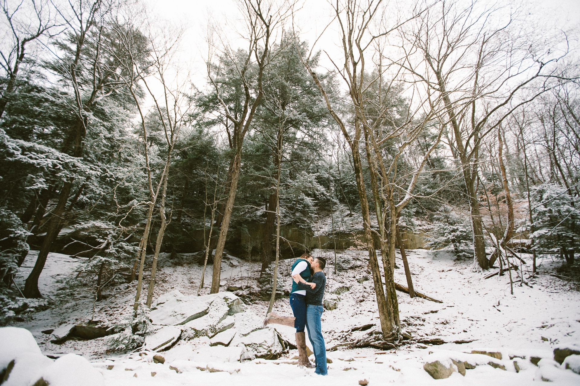 Cleveland Snowy Winter Engagement Session in Chagrin Metroparks 21.jpg