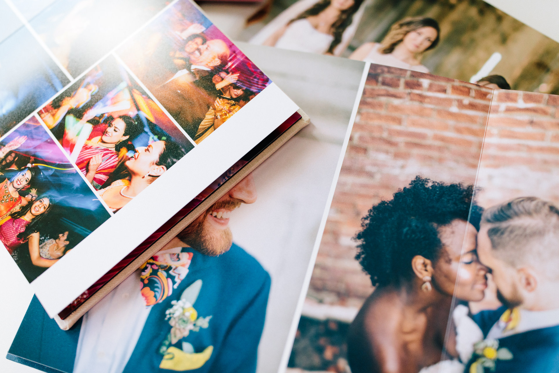 All albums have true photographic prints for exceptional quality. Images layflat across spreads,