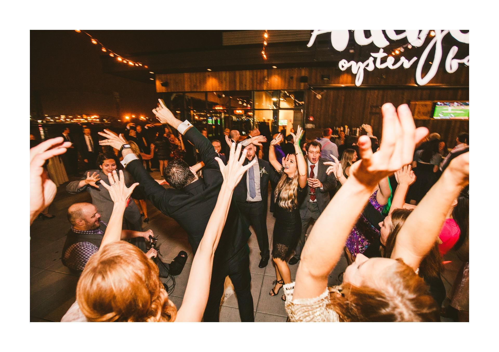 Aloft Hotel Alley Cat Oyster Bar Wedding in Cleveland 77.jpg