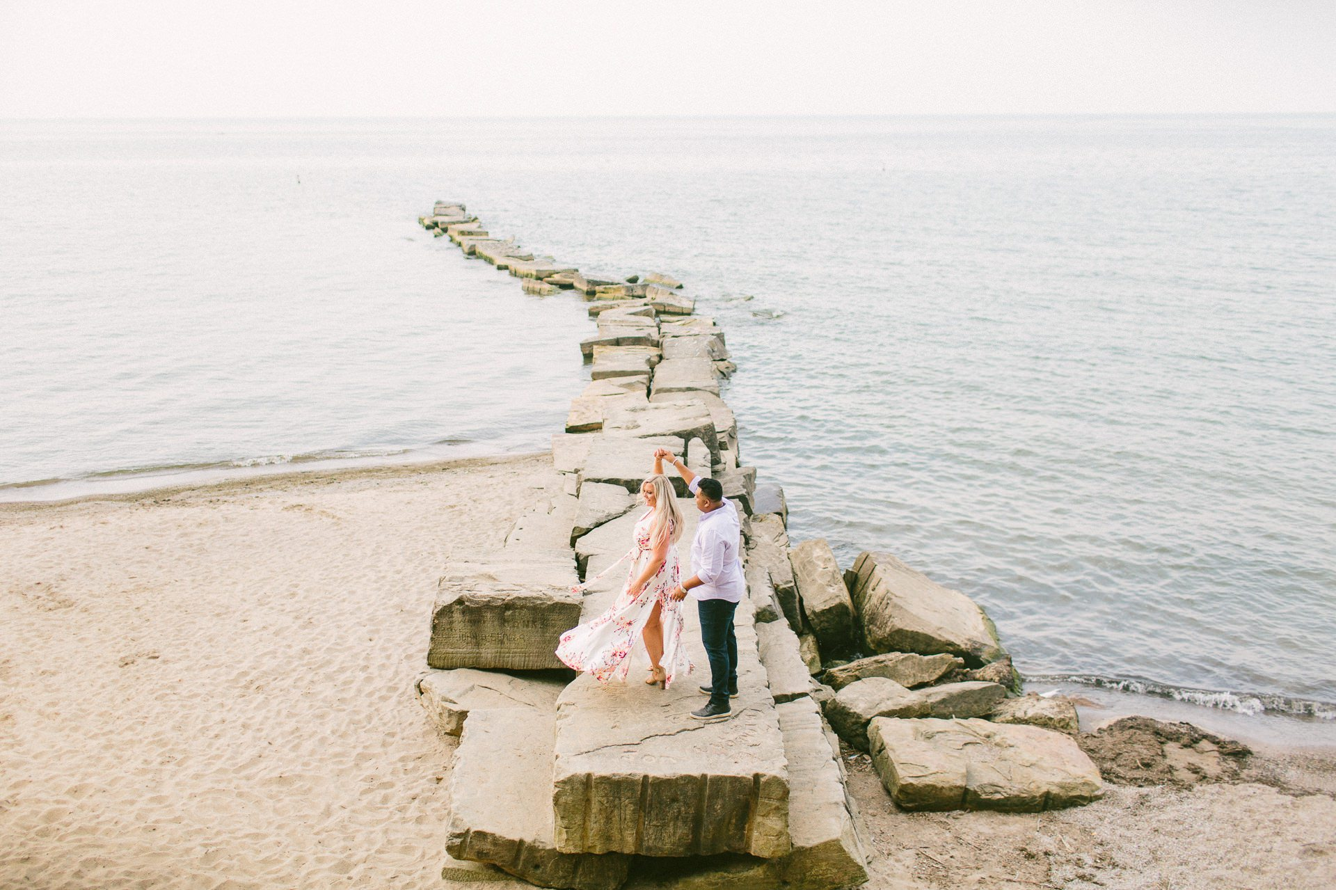 Edgewater Beach Engagement Session in Cleveland 5.jpg