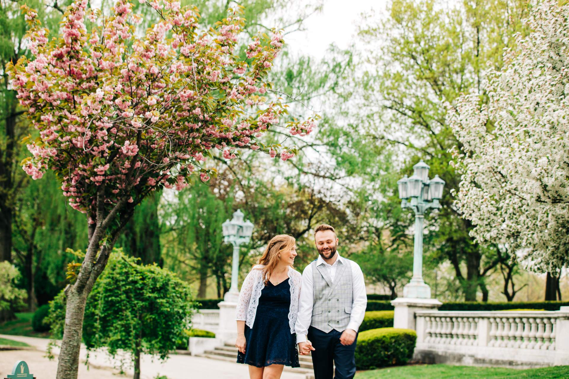 Cleveland Spring Cherry Blossom Engagement Session 8.jpg