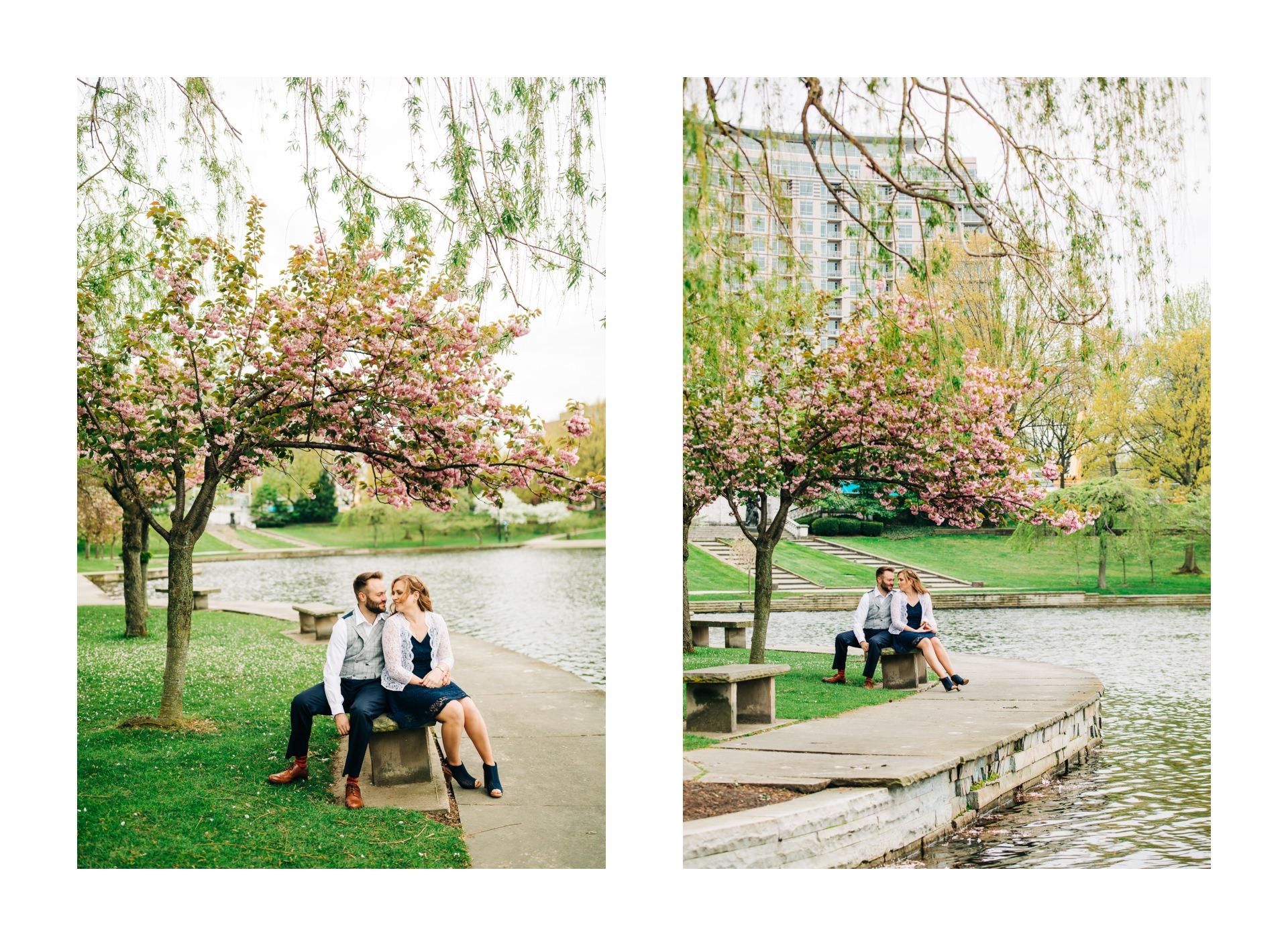 Cleveland Spring Cherry Blossom Engagement Session 10.jpg