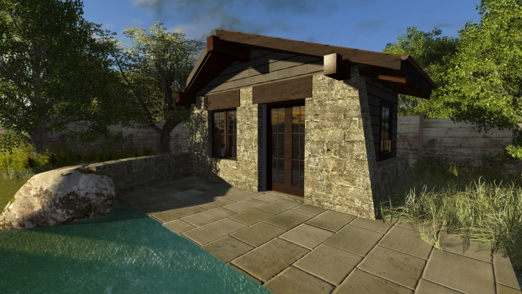An early 3D test rendering