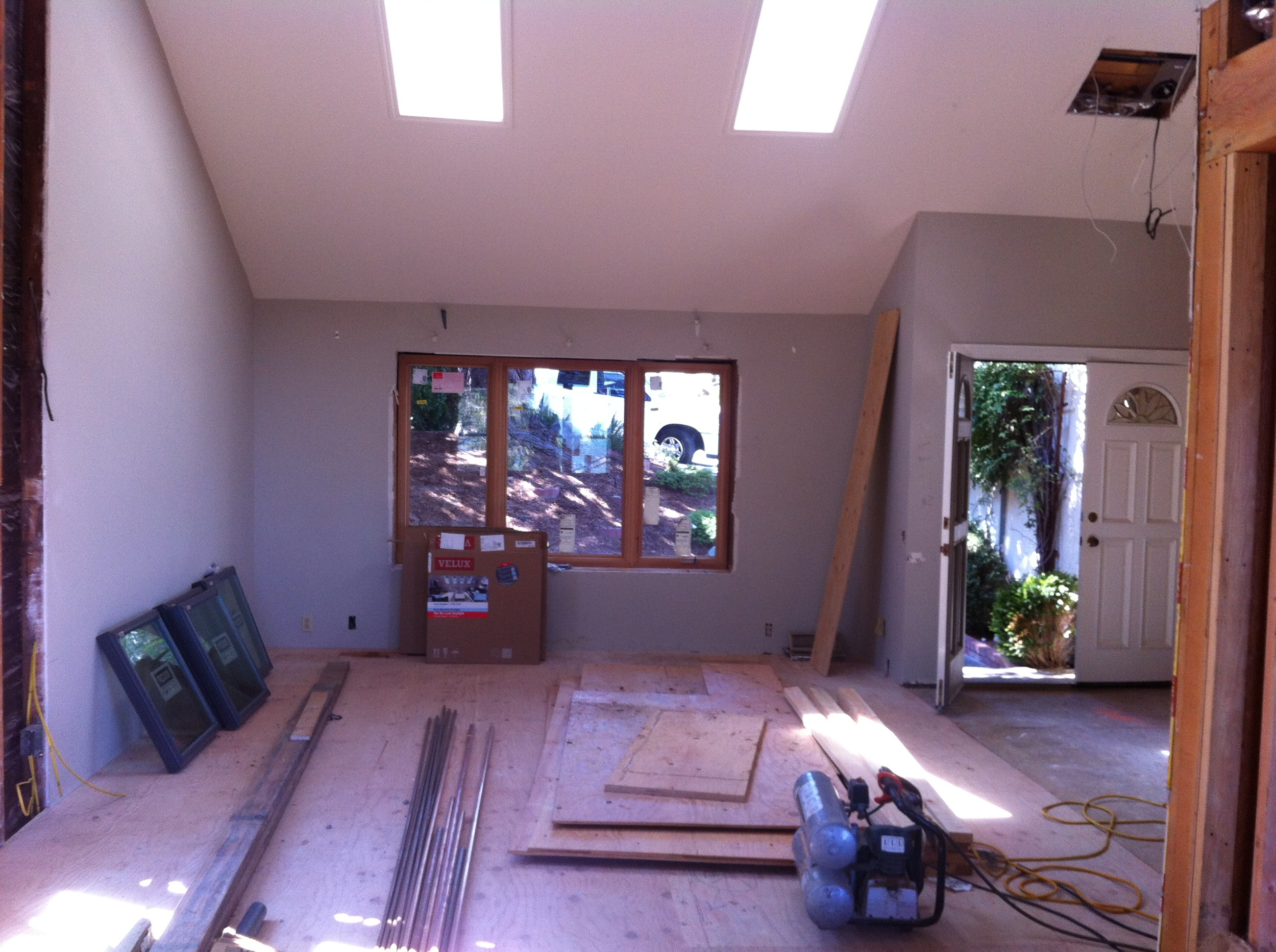 The Living Room with the sunken floor now filled in.