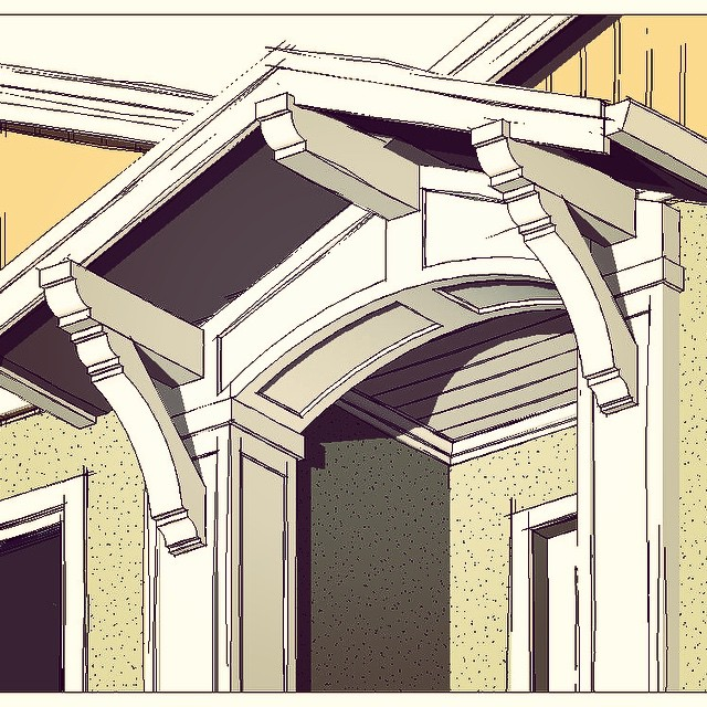 An entry design for a project in Palo Alto