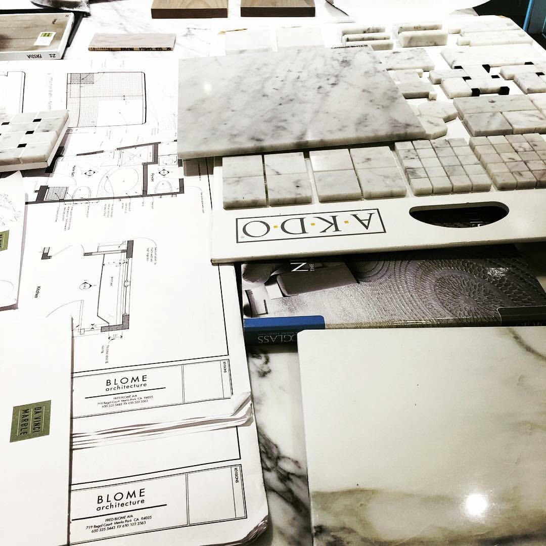 Just awhile ago we were detailing and assisting our client with the tile selection.