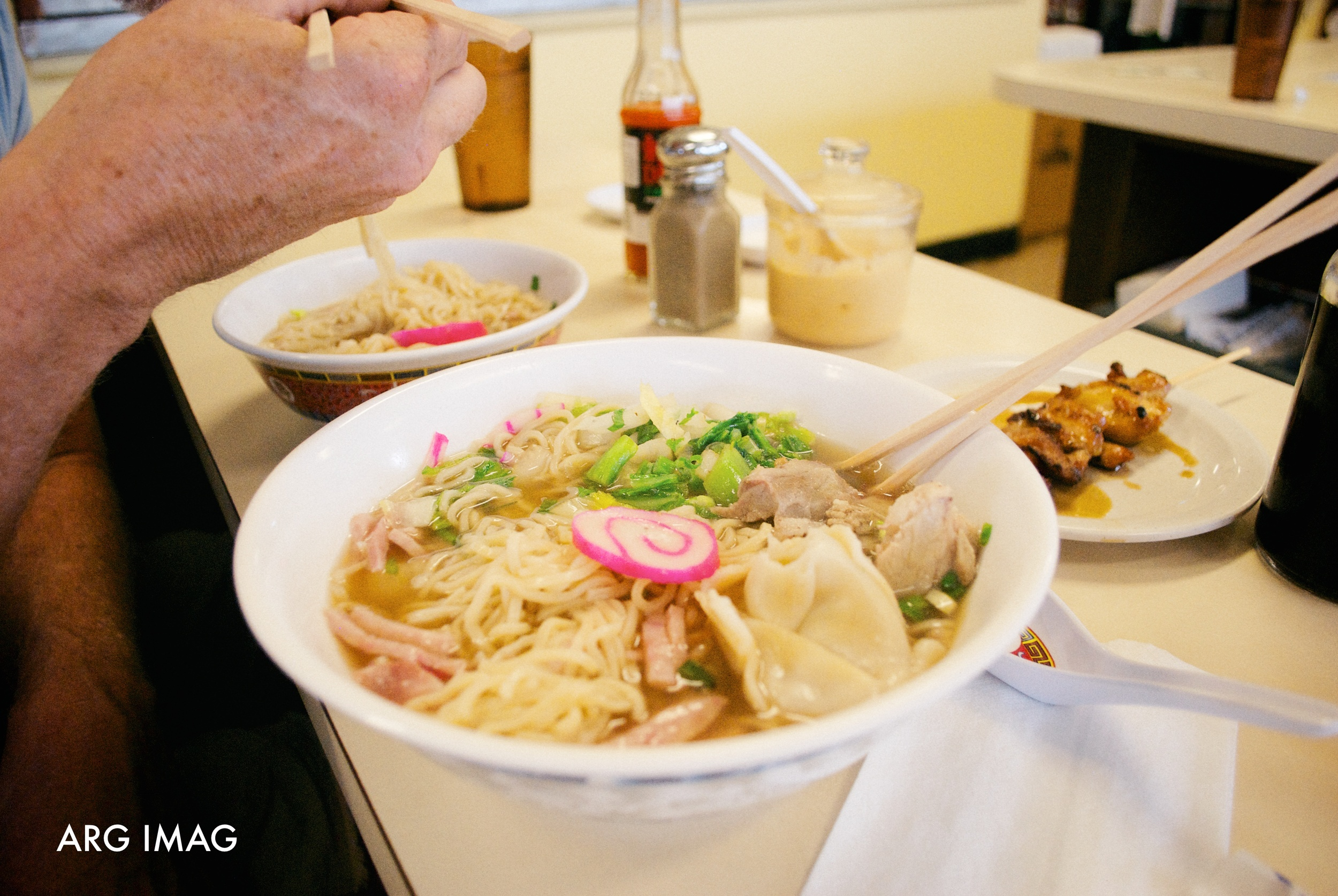 2:00pm  - A late lunch after thrifting was had at one of the oldest noodle stands on Kauai, Hamura Saimin.