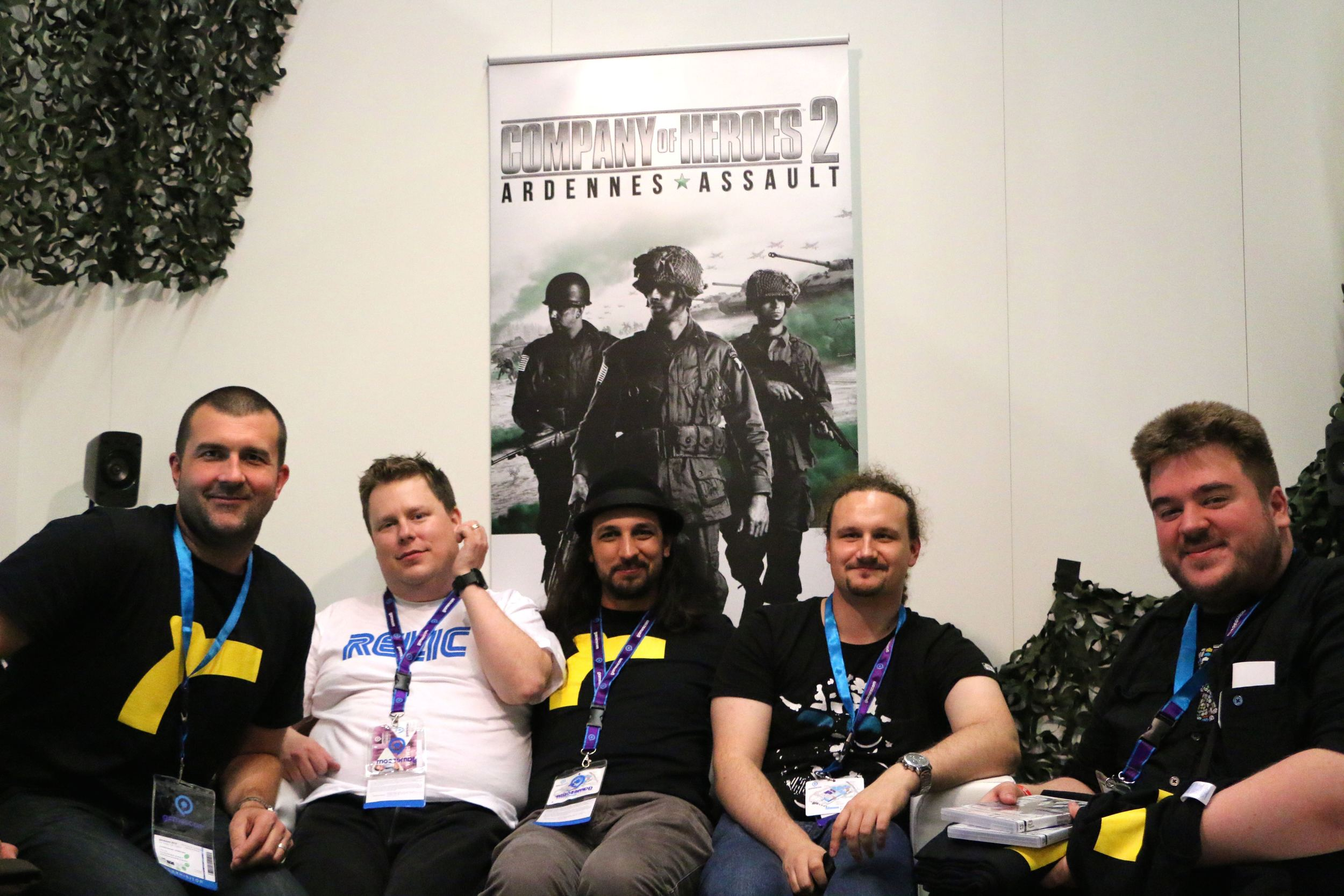 Me at Gamescom 2014 in Cologne this August. I'm second from the left, and heavier than I am now.