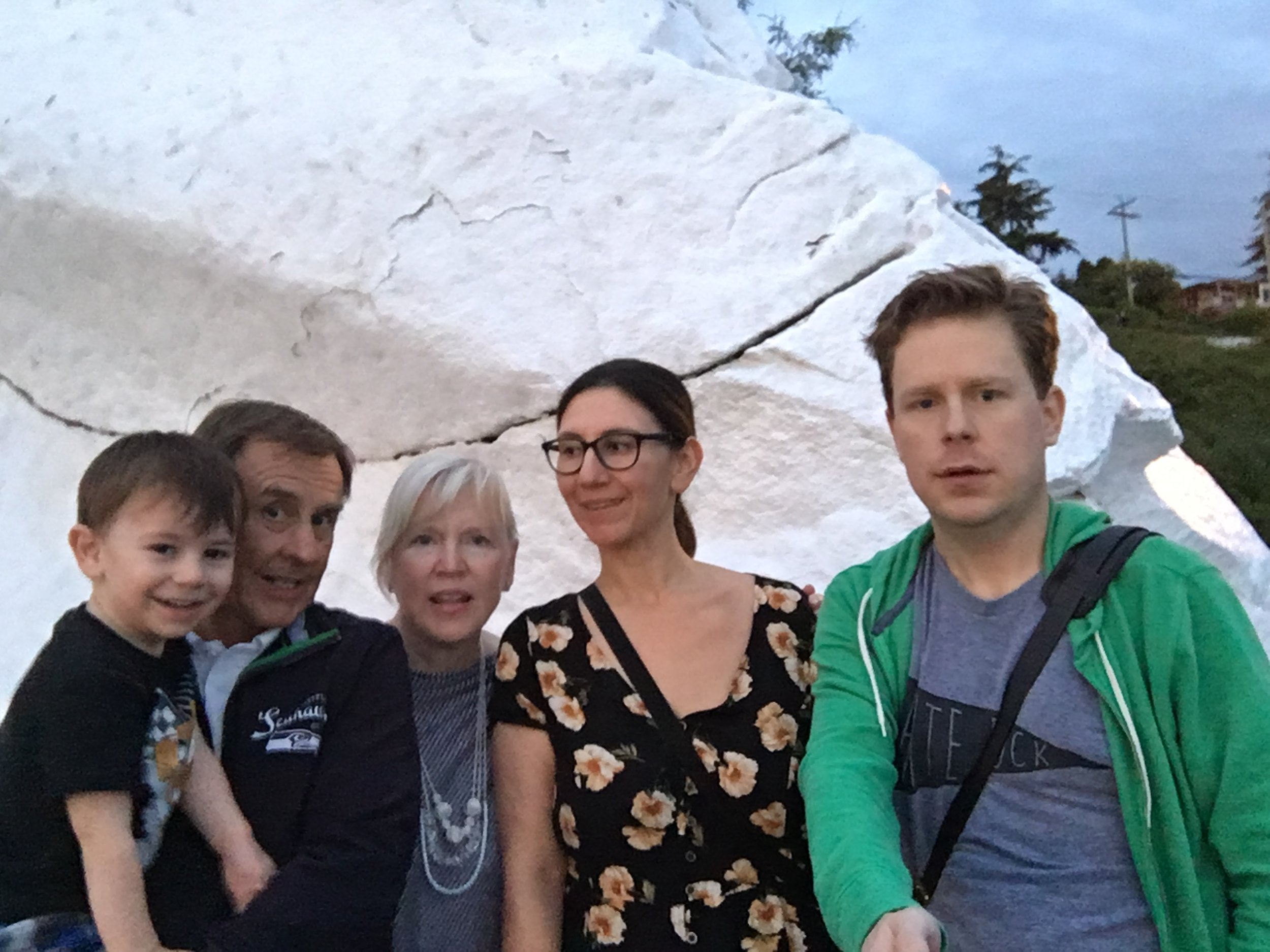 My family at the famous white rock of White Rock a few years ago.