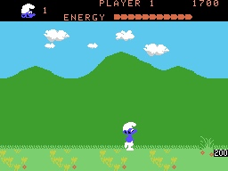1982's  Smurf: Rescue in Gargamel's Castle  for the CollecoVision. A game I was terrible at but played a lot.