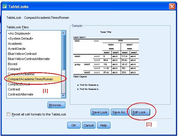 SPSS TableLooks Screen Example CompactAcademicTimesNewRoman