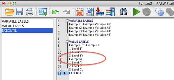 SPSS Syntax screen example 4