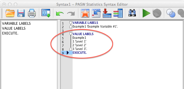 SPSS Value Labels Syntax