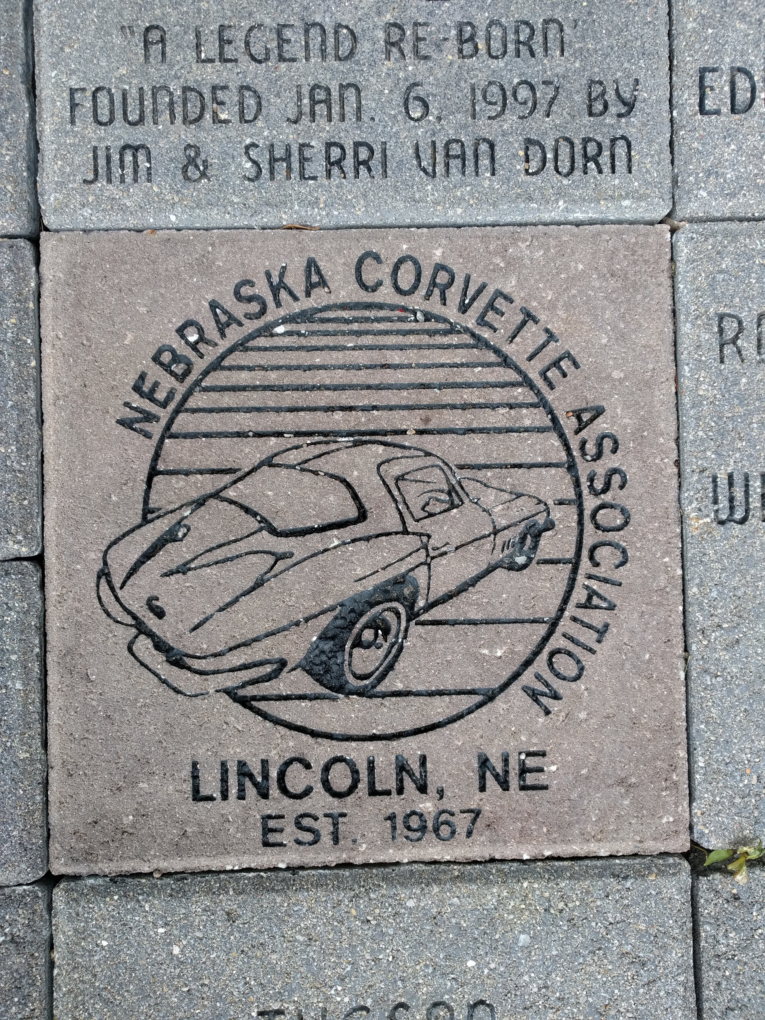 NCA brick at the front entry of NCM