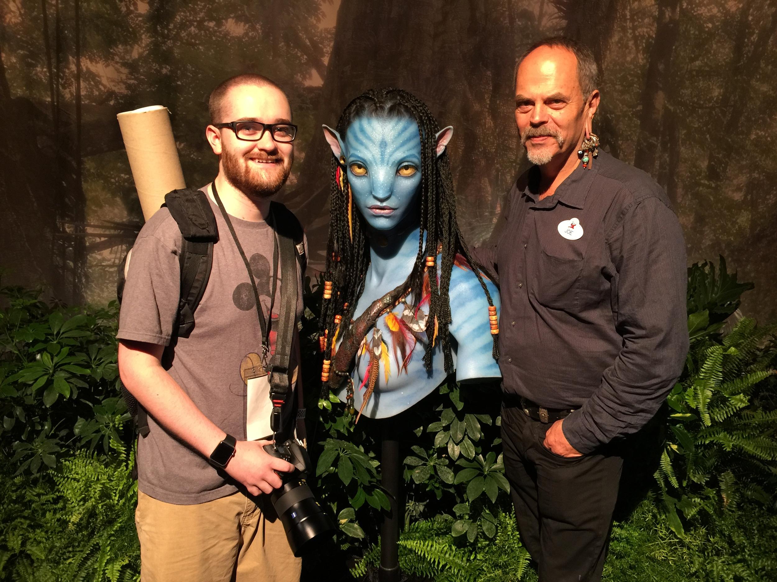 Me, a Na'vi bust, and Joe Rohde
