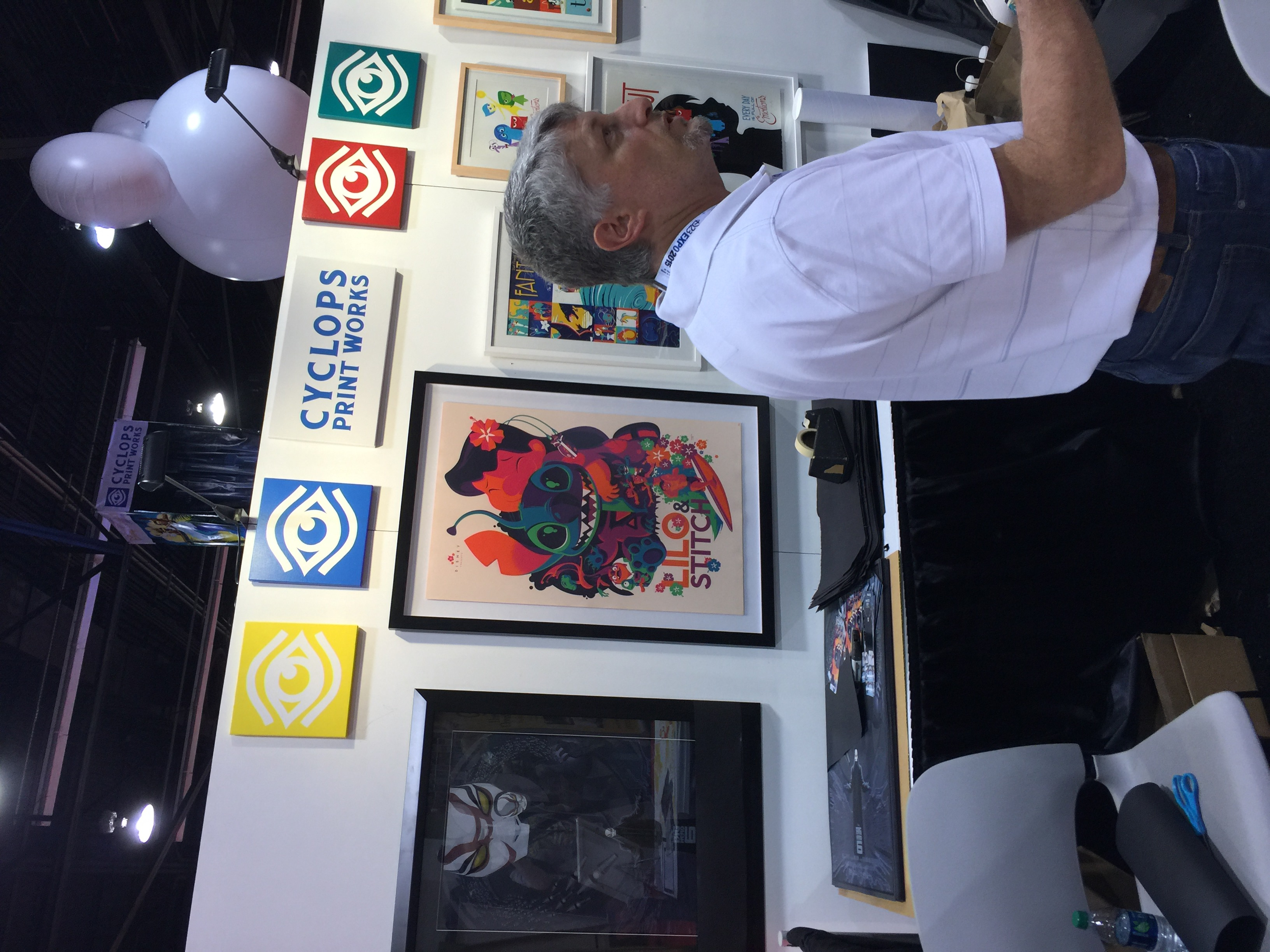 The Cyclops Print Works Booth
