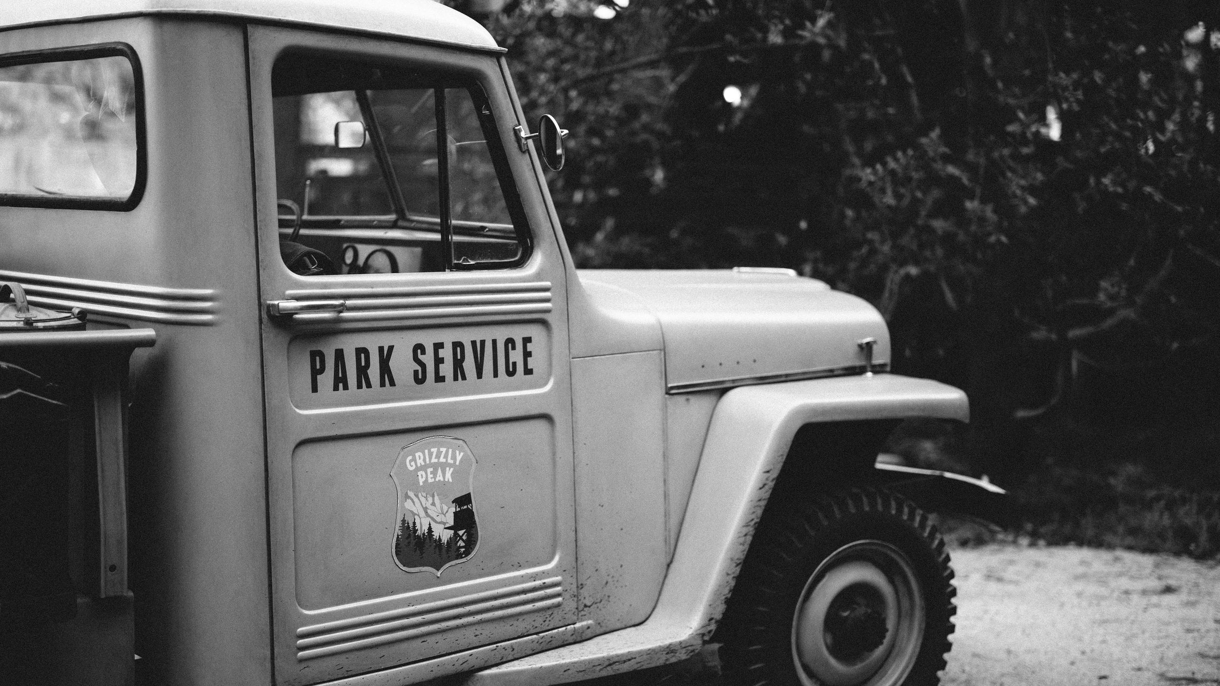Grizzly Peak Park Service (B&W)
