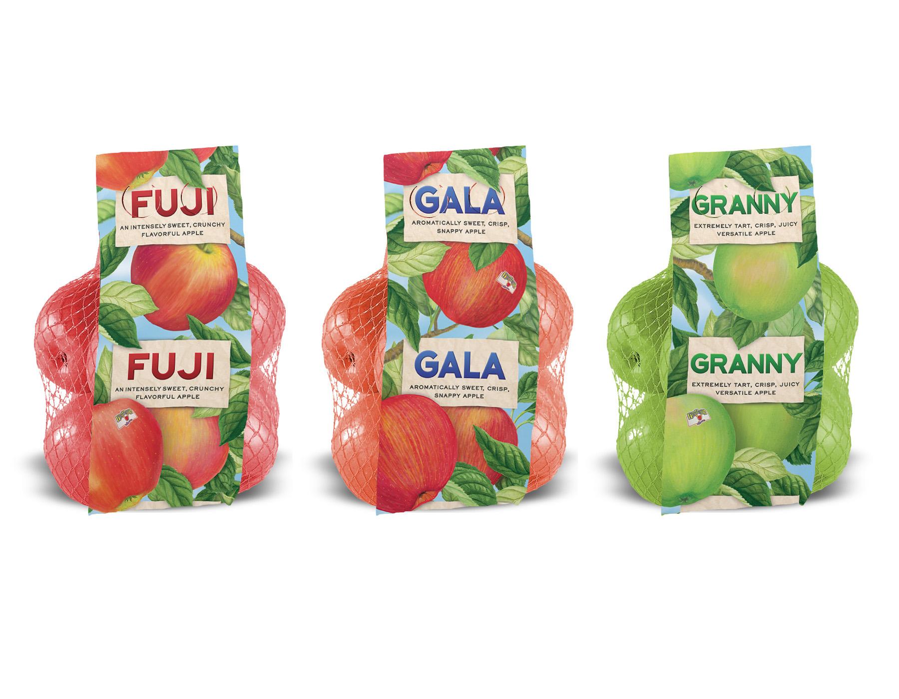 Mesh Apple Bag label