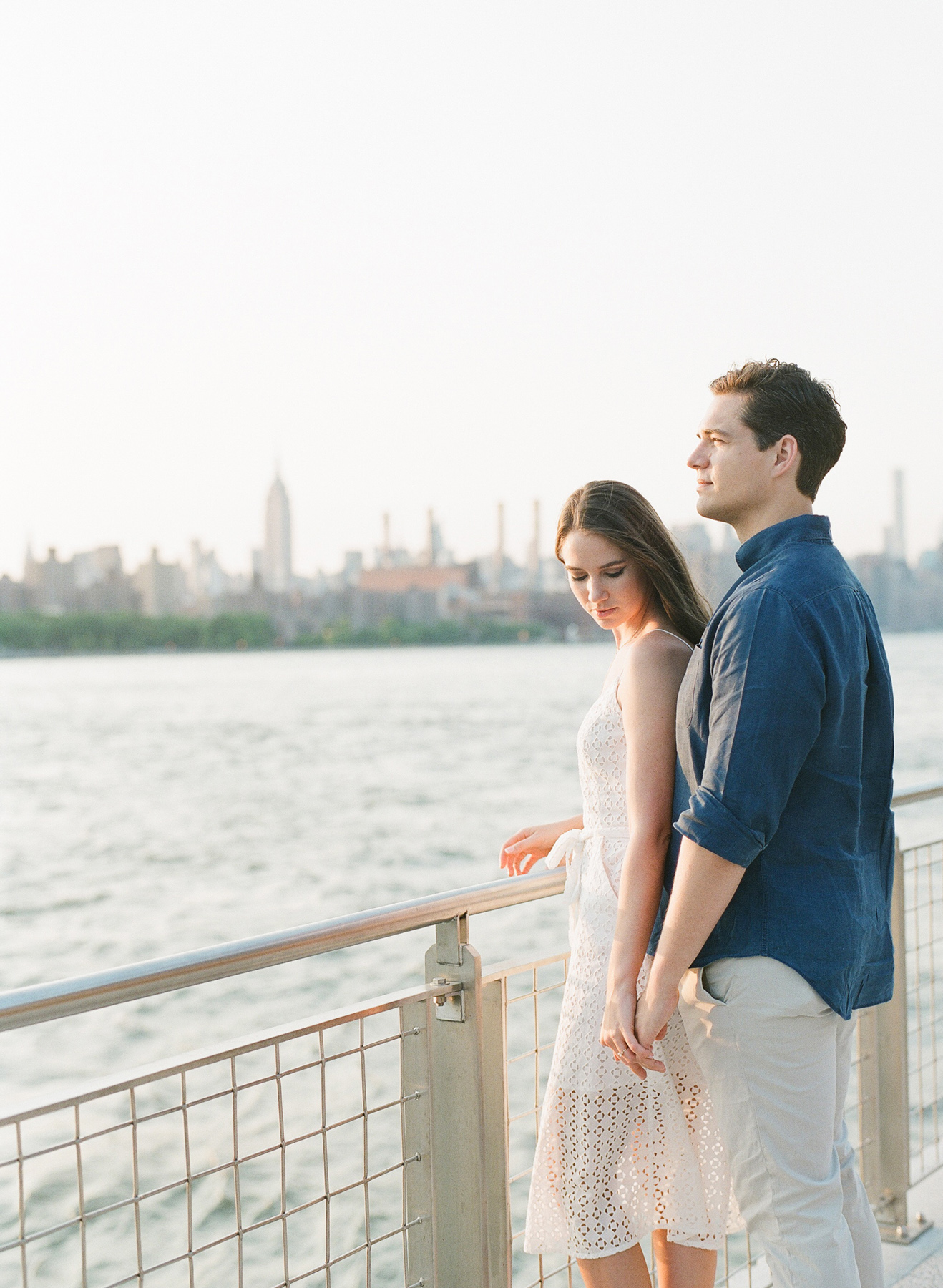 NYC Engagement Film Photography