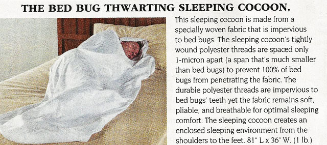 Bed Bug Cacoon