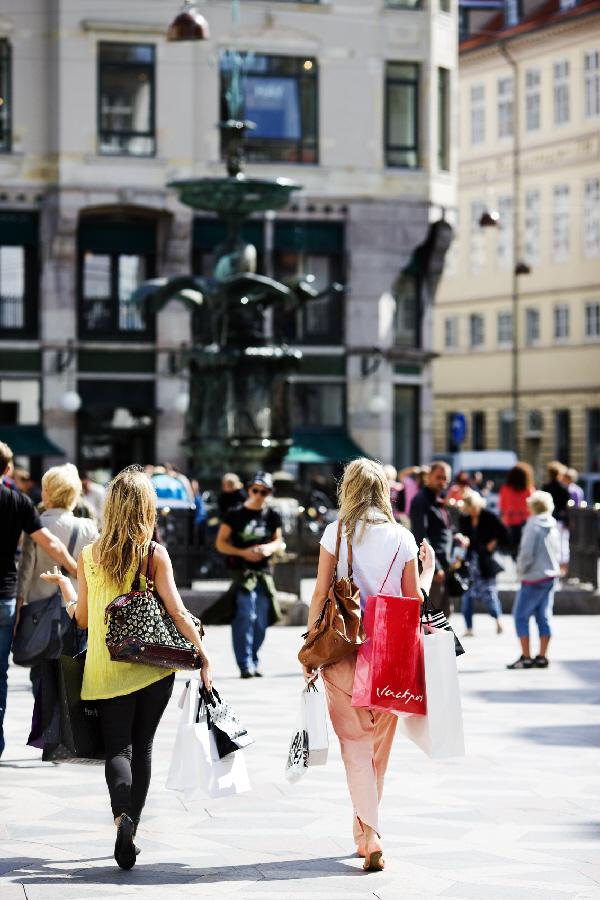Shopping in fashionable Copenhagen is always a treat