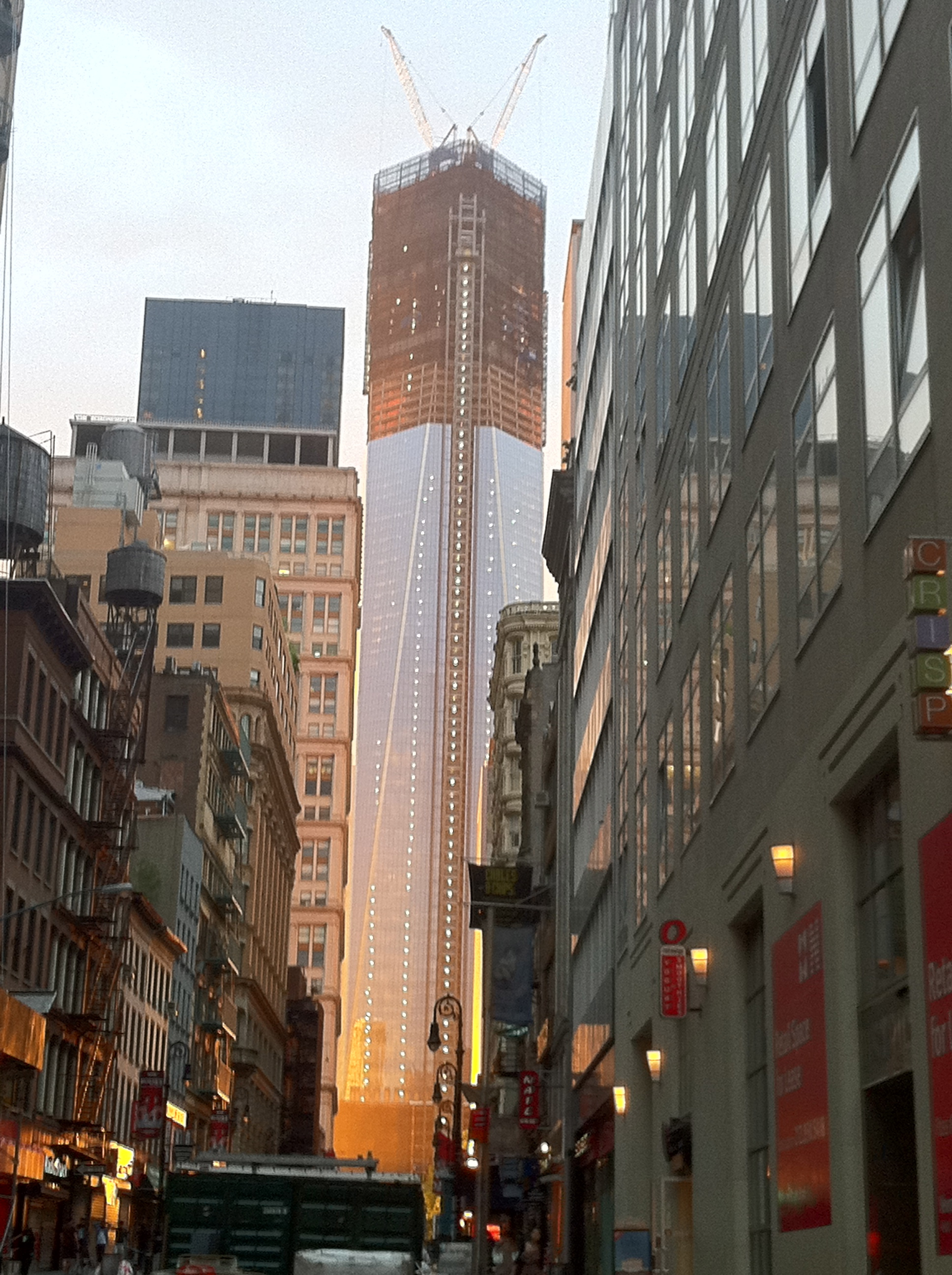 Freedom Tower in the sunset