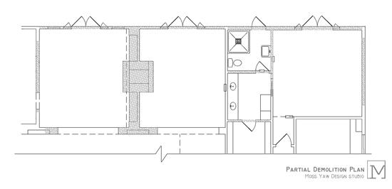 villa park | partial demolition plan