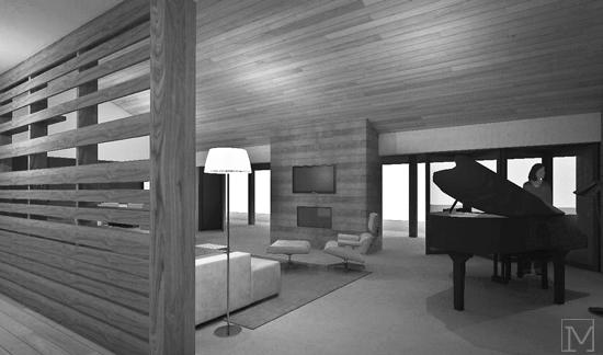 interior great room //  project renderings + drawings