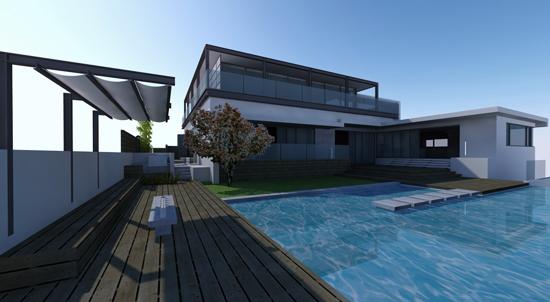 rear yard + pool