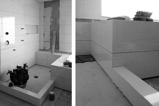 contemporary bath tile /  brunei blanco by porcelanosa
