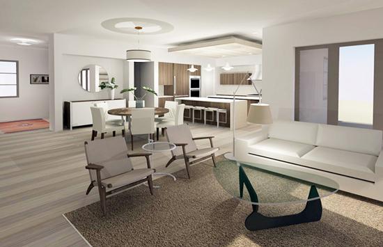Fullerton modern interior | great room