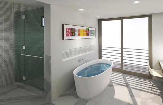 Master Bath | floating bath