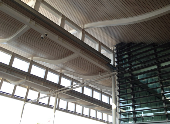curved steel structure