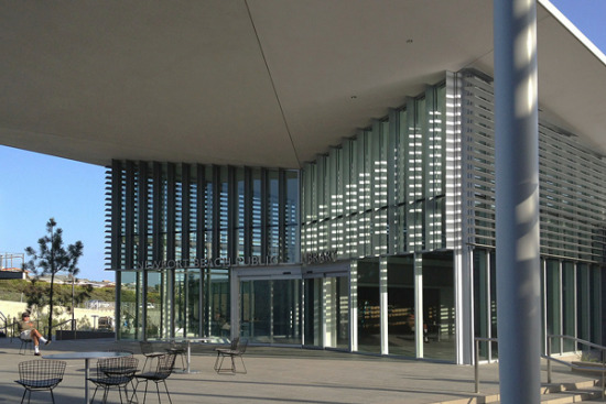 new library entrance