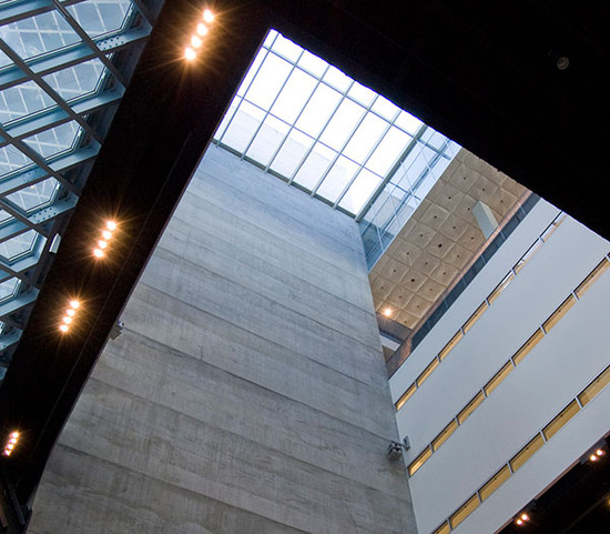 library interior / view from below