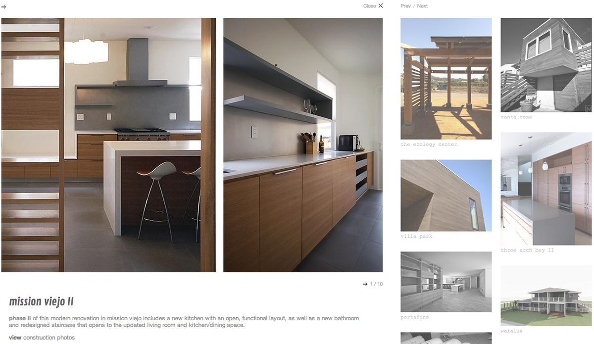 MYD studio: architect  squarespace 6 website