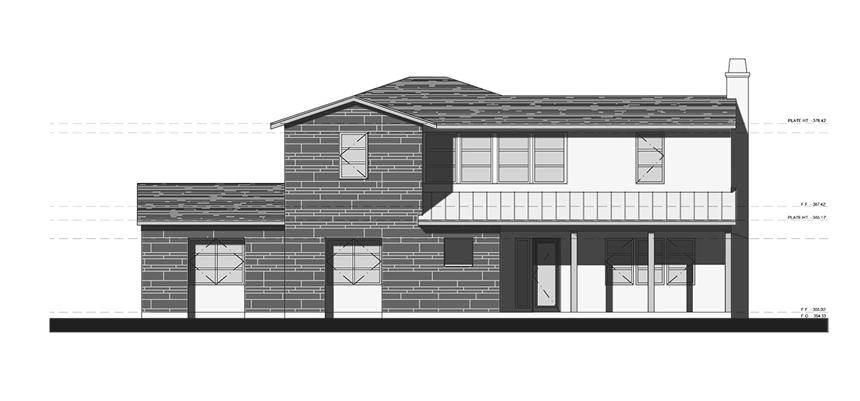 contemporary ranch house | exterior elevation