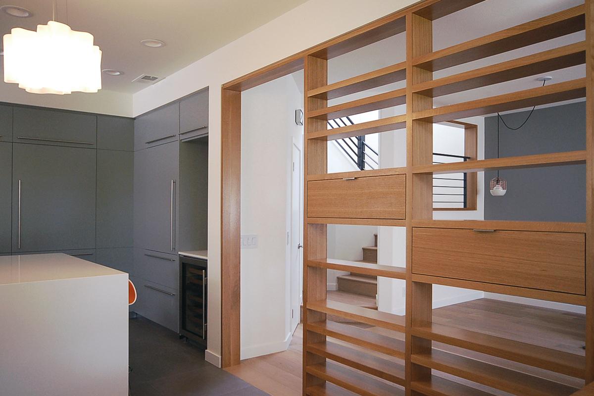 custom rift oak screen / room divider