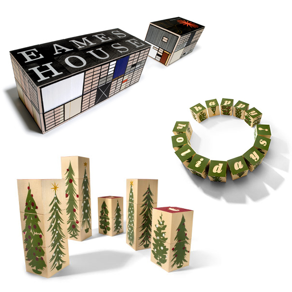eames house blocks / christmas tree blocks
