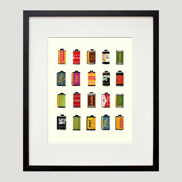 vintage film canisters print