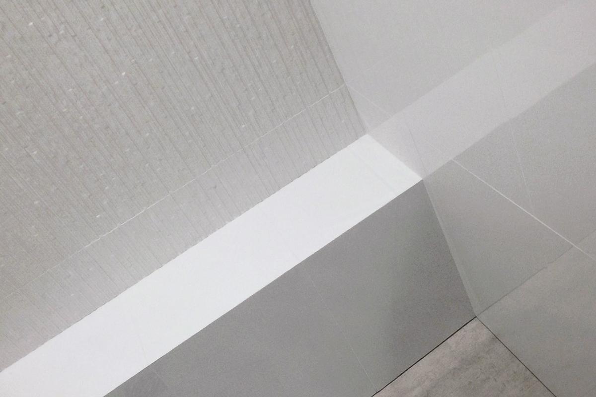 porcelanosa  modern white shower tile