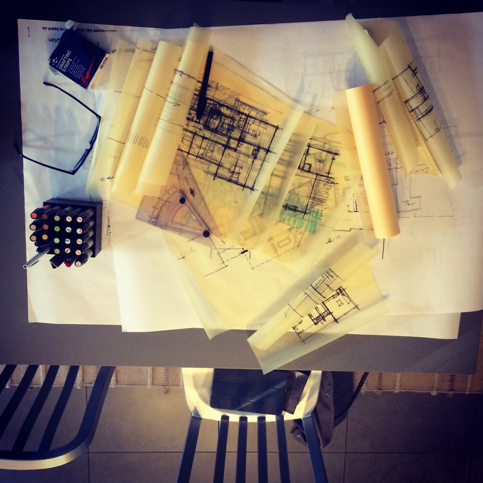 october  |  building a floor plan: sketching, overlays + the design process