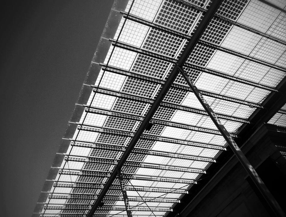 photovoltaic panels  | museum entrance