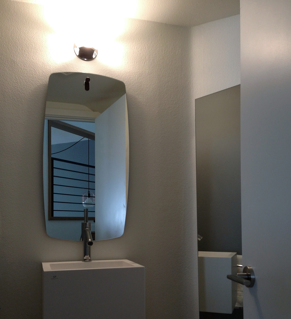 modern powder room mission viejo