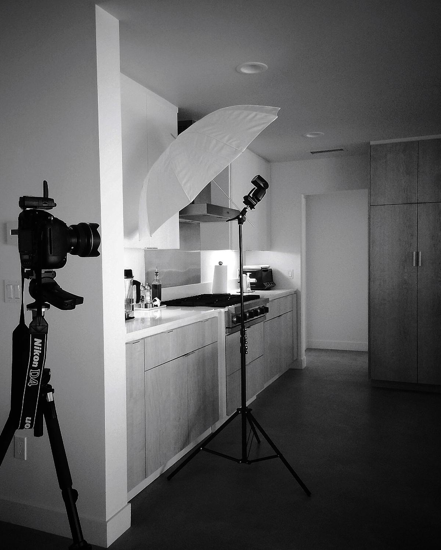 lighting the kitchen