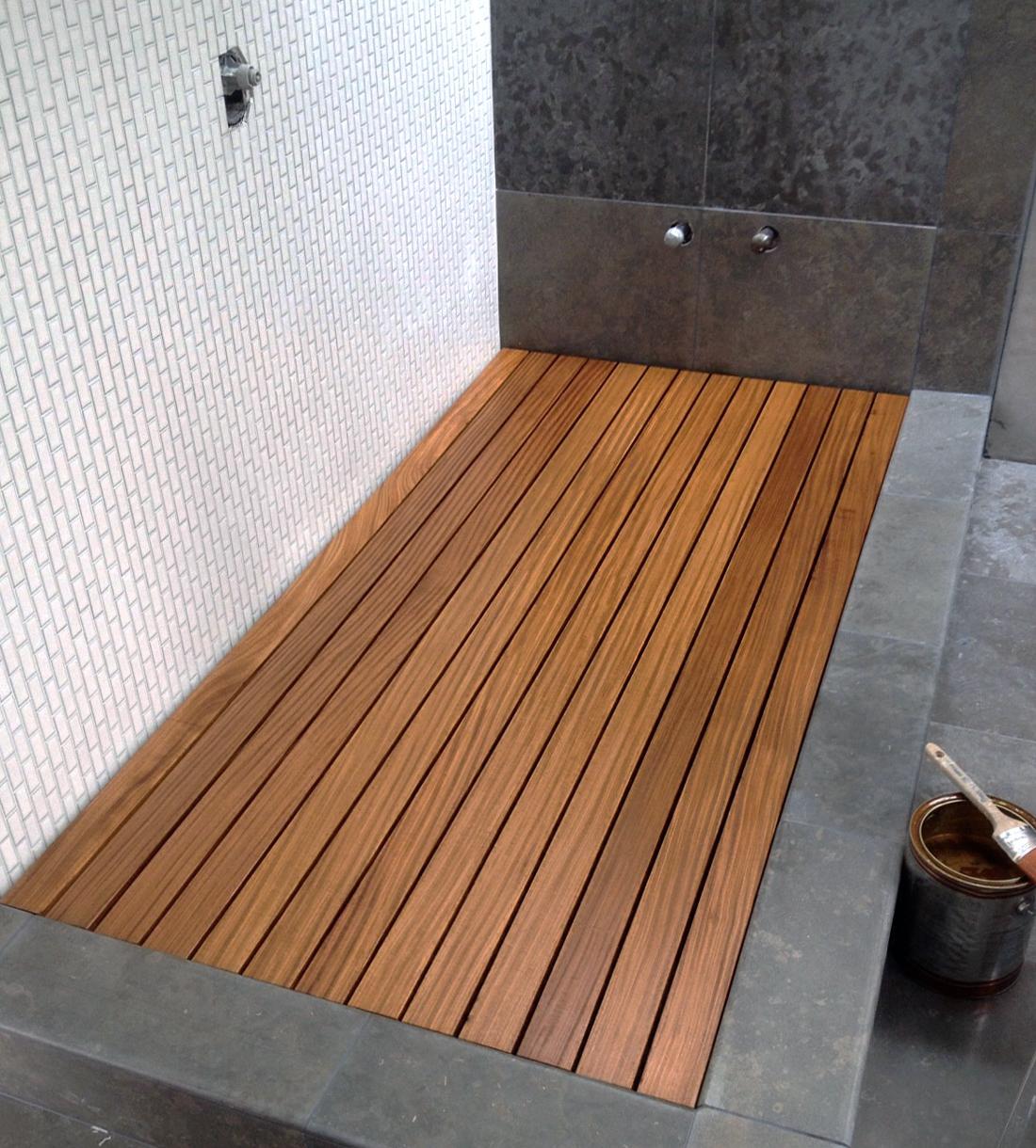 wood platform, sealed