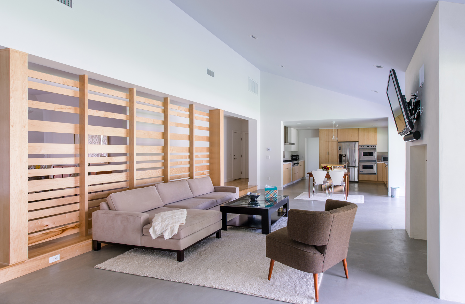 open floor plan / contemporary living room