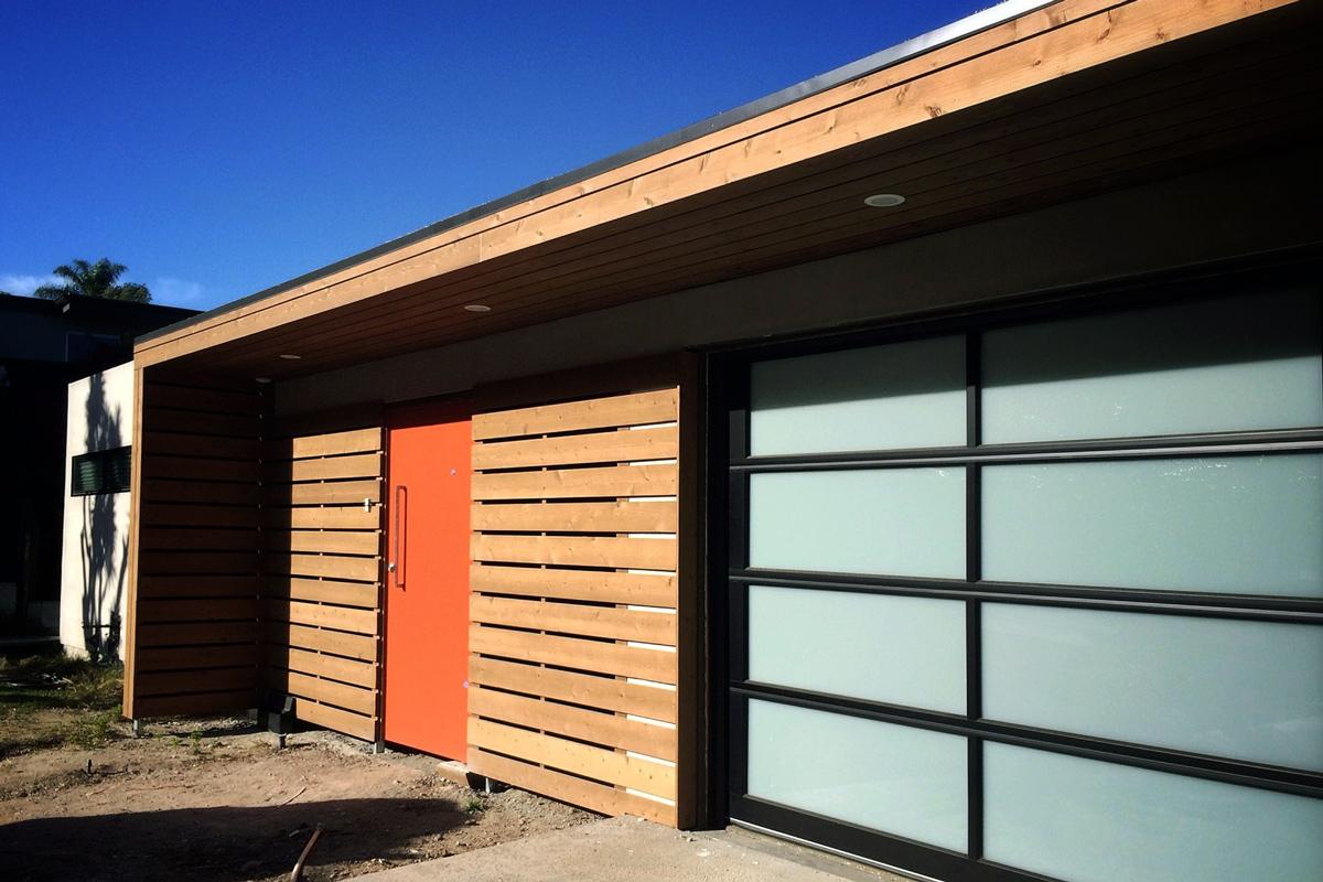 modern entry / exterior renovation