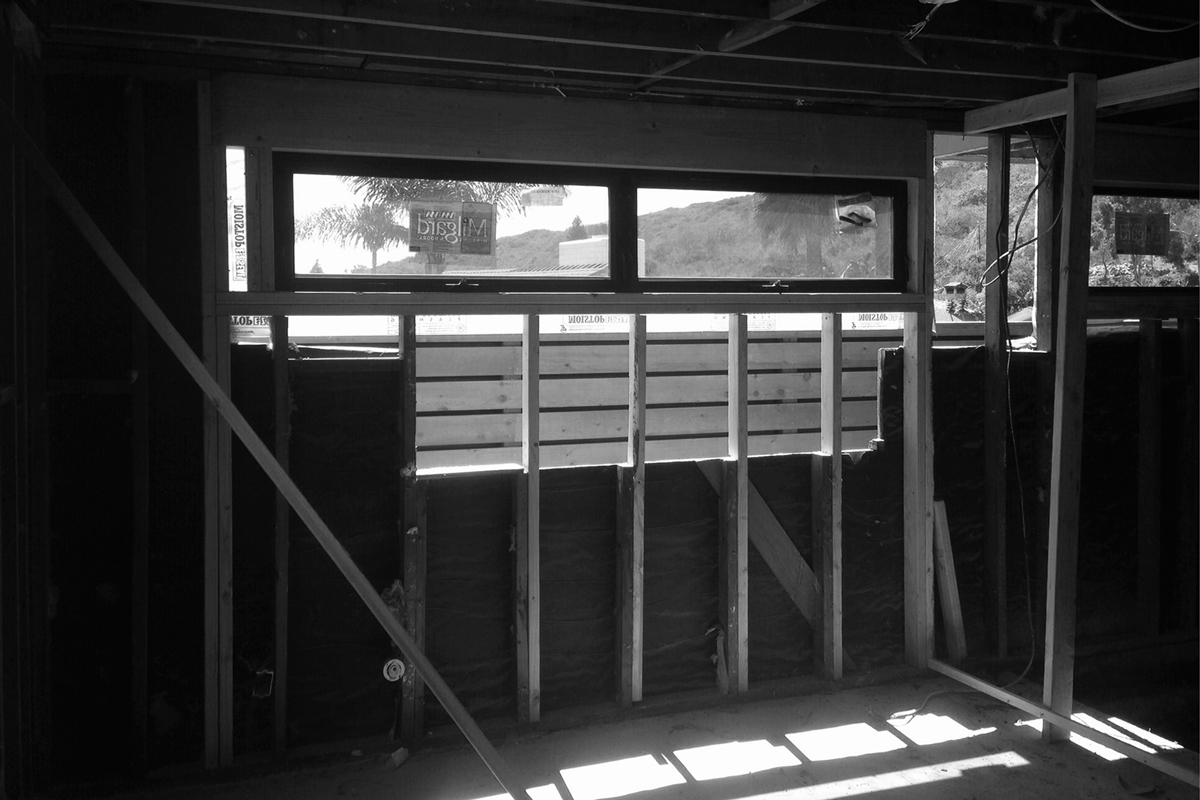 framing + aluminum window